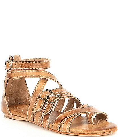 56a18050818 Bed Stu Miya Leather Banded Toe Ring Sandals