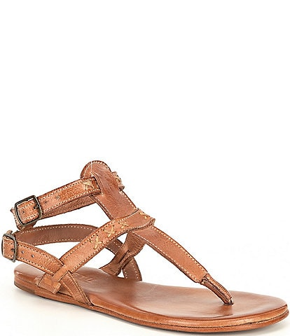 Bed Stu Moon Leather Flat Thong Sandals