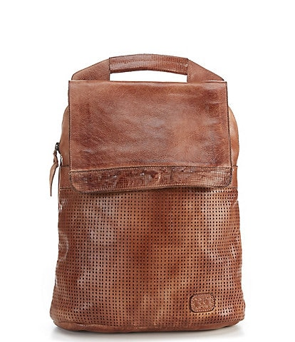 Bed Stu Patsy Tanned Perforated Leather Backpack