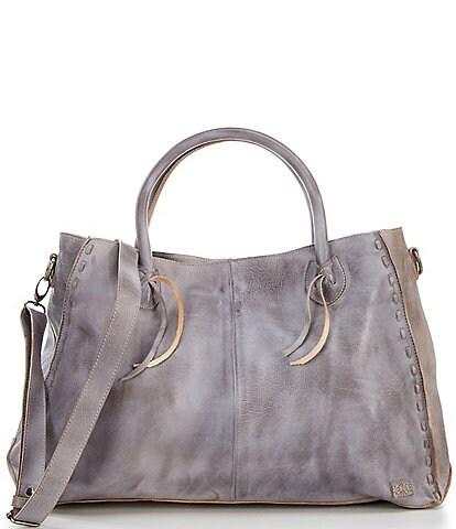 Bed Stu Rockaway Stitch-Detail Distressed Satchel Bag