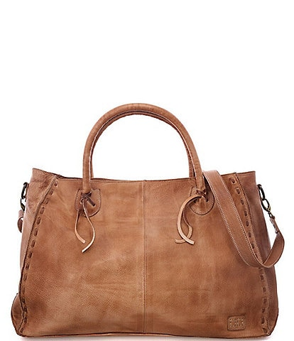 Bed Stu Rockaway Stitch-Detail Distressed Satchel