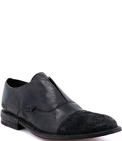 Bed Stu Rose Leather Slip-On Oxfords