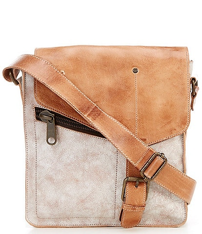 Bed Stu Venice Beach Buckle Weathered Leather Crossbody Bag