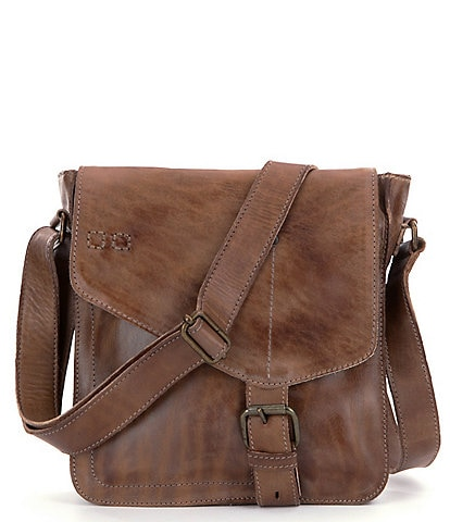 Bed Stu Venice Beach Buckle Weathered Leather Crossbody