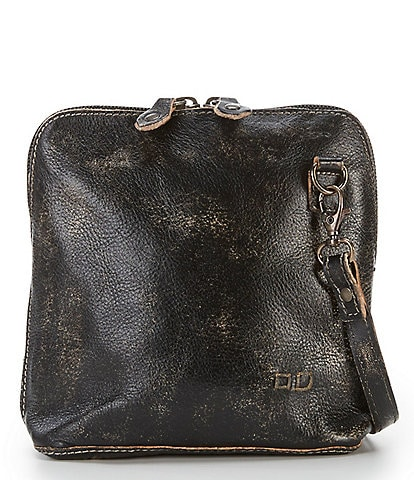 Bed Stu Ventura Dome Distressed Leather Mini Crossbody Bag