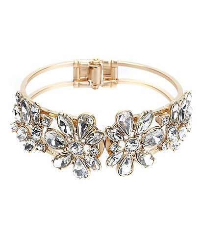 Belle Badgley Mischka Faux-Crystal Hinge Bracelet