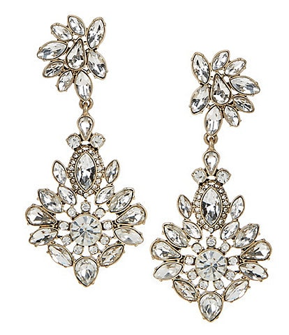 Belle Badgley Mischka Fancy Multi Stone Drop Earrings