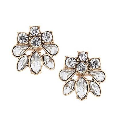 Belle Badgley Mischka Cluster Stud Earrings