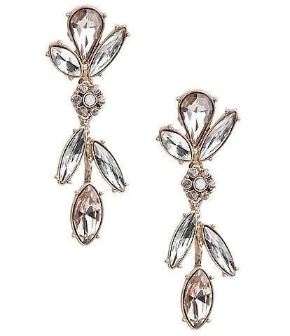 Belle Badgley Mischka Glitzy Flower Statement Drop Earrings
