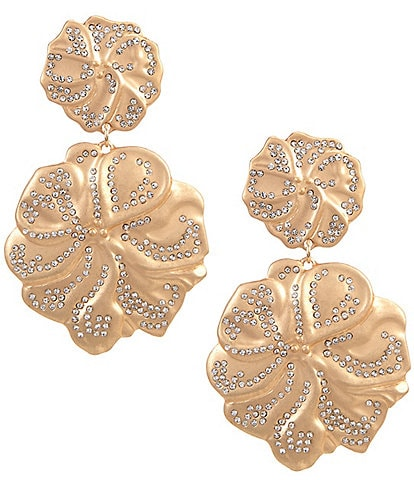 Belle Badgley Mischka Hibiscus Chandelier Earrings