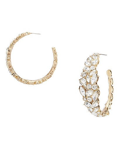 Belle Badgley Mischka Hoop Earrings
