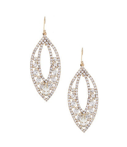 Belle Badgley Mischka Leaf Statement Earrings