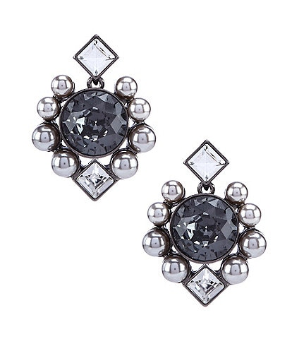 Belle Badgley Mischka Multi Shape Round Stud Earrings