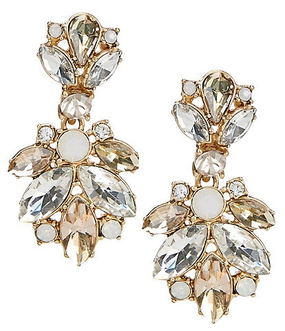 Belle Badgley Mischka Navette Drop Earrings