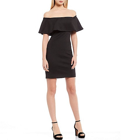 Belle Badgley Mischka Nicola Ruffle Dress