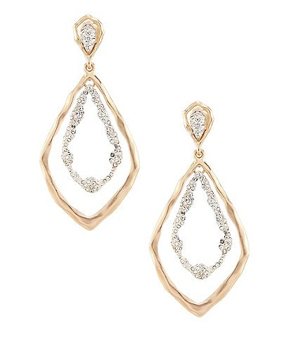 Belle Badgley Mischka Pave Orbital Earrings