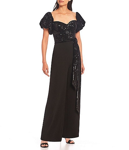 Belle Badgley Mischka Taylor Off-The-Shoulder Jumpsuit