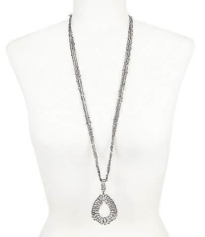 Belle Badgley Mischka Teardrop Pendant Necklace