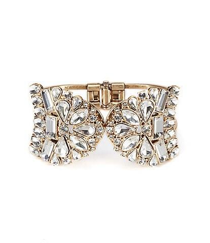 Belle Badgley Mischka Vintage Crystal Cuff Hinge Bracelet
