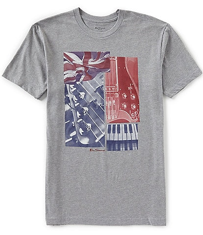 Ben Sherman Classic Fit Music Collage Short-Sleeve Graphic T-Shirt