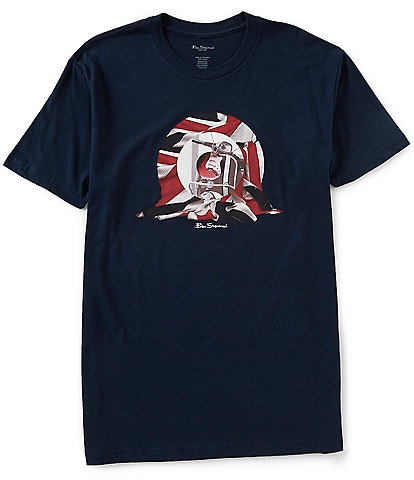 Ben Sherman Classic Fit Short-Sleeve Scooter Target Graphic T-Shirt