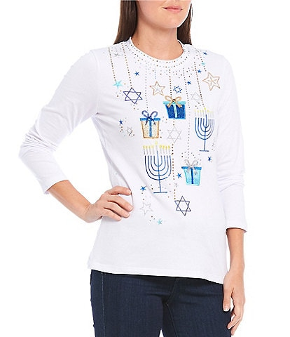 Berek Metallic Embellished Hanukkah Presents Tee