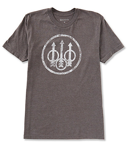 Beretta Distressed Graphic Trident Logo Short-Sleeve Tee