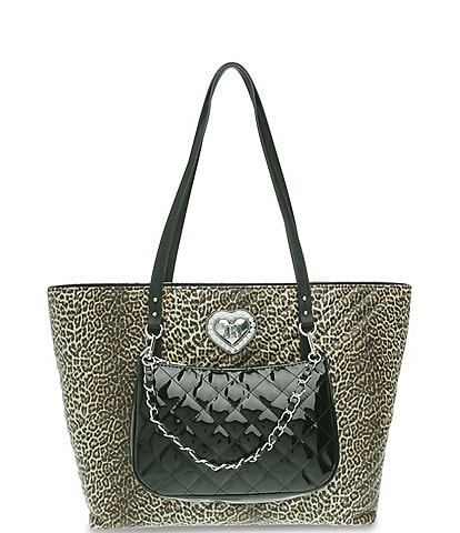 Betsey Johnson All The Things Tote with Removable Shoulder Bag