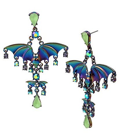 Betsey Johnson Bat Chandelier Earrings