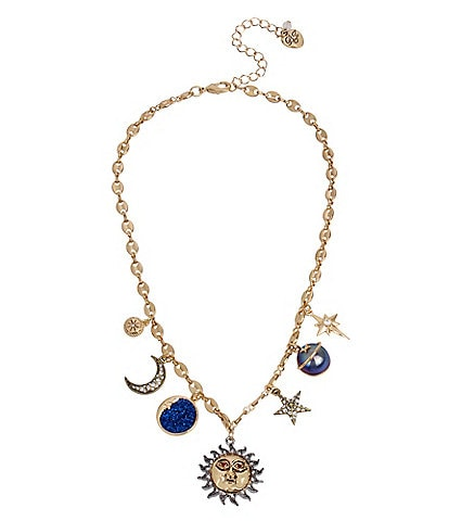 Betsey Johnson Celestial Mixed Charm Necklace