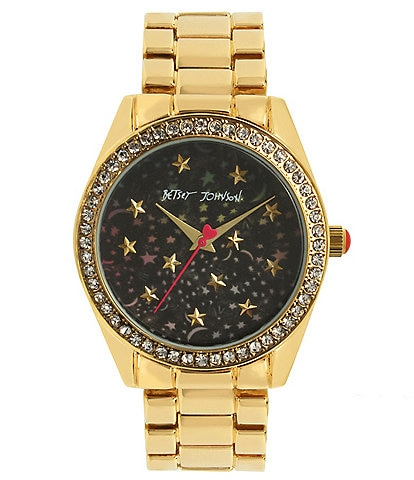 Betsey Johnson Celestial Starry Dial Bracelet Watch