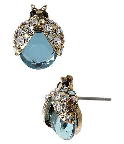 Betsey Johnson Ladybug Stud Earrings