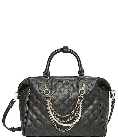 Betsey Johnson Large Quilted Satchel Bag