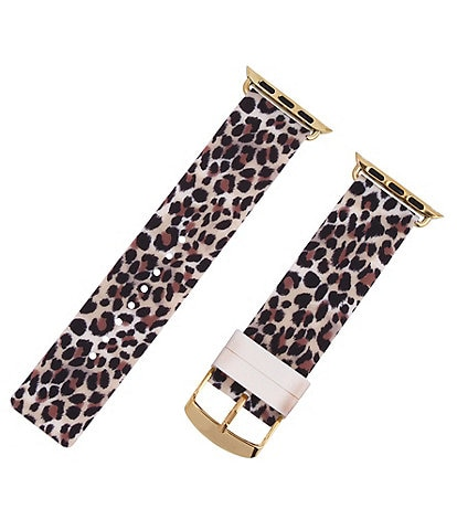 Betsey Johnson Leopard Silicone 38/40 mm Apple Watch® Strap