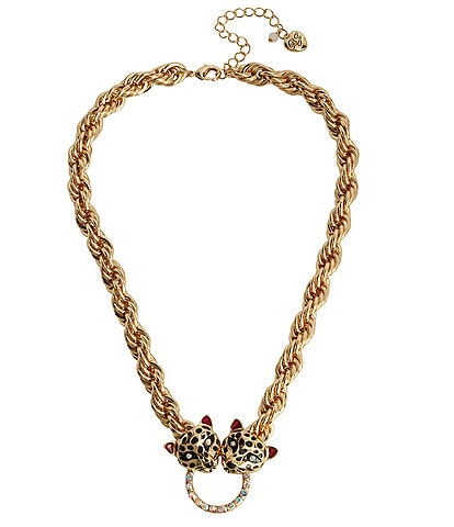 Betsey Johnson Leopard Bib Necklace