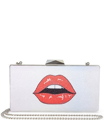 Betsey Johnson Lips And Eyes Clutch Bag
