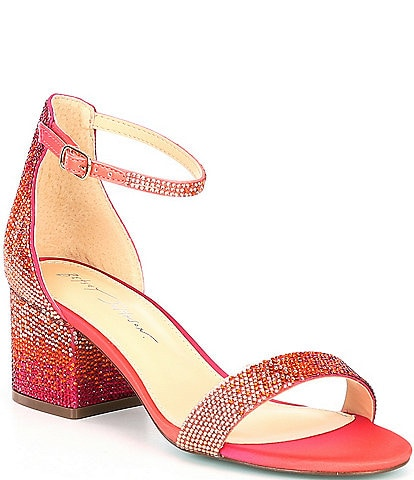 Betsey Johnson Mari Ombre Rhinestone Dress Sandals