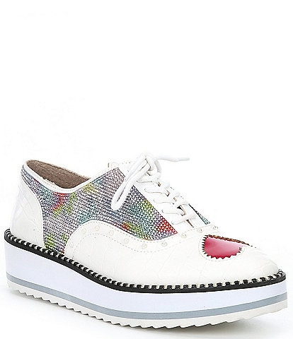 Betsey Johnson Marti Heart Detail Lace-Up Platform Oxford Sneakers