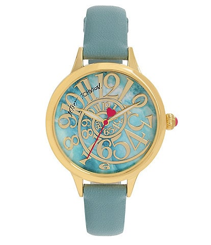 Betsey Johnson Optical Swirl Marble Dial Watch
