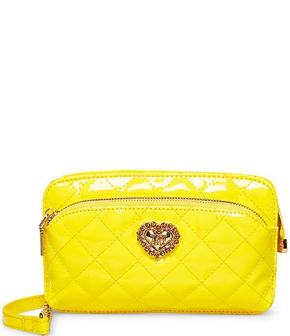 Betsey Johnson Patent Brights Quilted Crossbody Bag