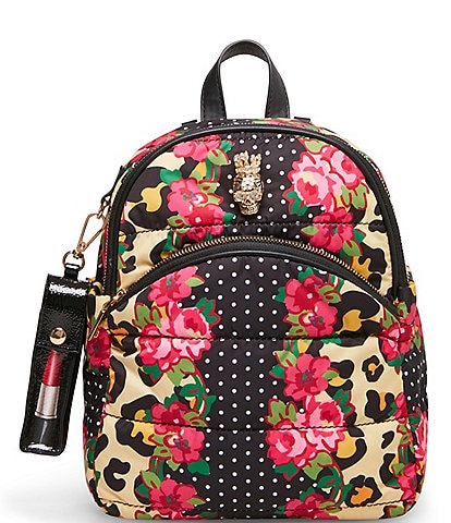 Betsey Johnson Pretty Puffer Multi Printed Backpack