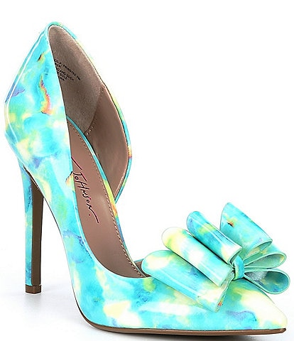 Betsey Johnson Prince Printed Bow Detail Pumps