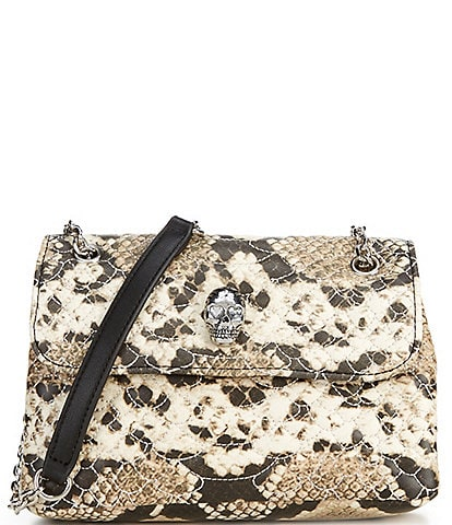 Betsey Johnson Python Flap Crossbody Bag