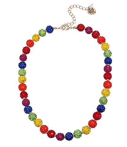Betsey Johnson Rainbow Fireball Collar Necklace