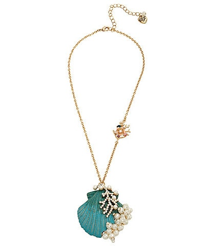 Betsey Johnson Seashell Pendant Necklace
