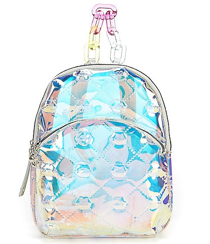 Betsey Johnson The Future Is Clear Iridescent Lips Print Mini Backpack