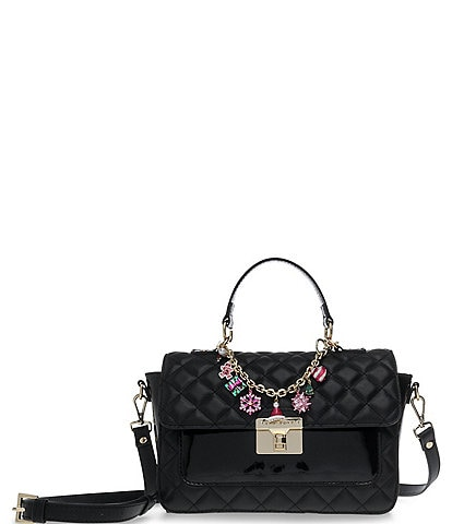 Betsey Johnson Top Handle Christmas Charm Satchel Bag