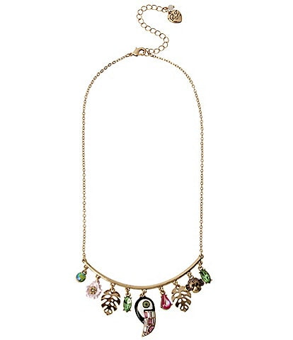 Betsey Johnson Toucan Shaky Charm Necklace