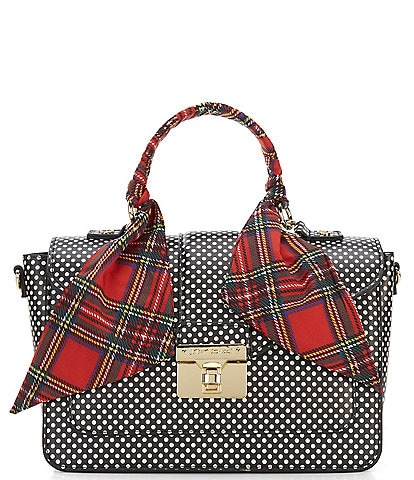 429a2ac09e4 Betsey Johnson Wrapped Up In You Dotted Top-Handle Satchel