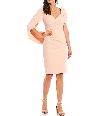 Betsy & Adam Sweetheart Neck Cowl Back Stretch Sheath Dress